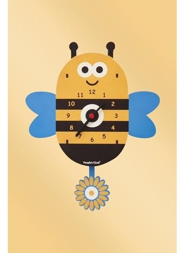 Peoples Clock Arı vız vız Sallanan Sarkaçlı Çocuk Odası Duvar Saati Renkli